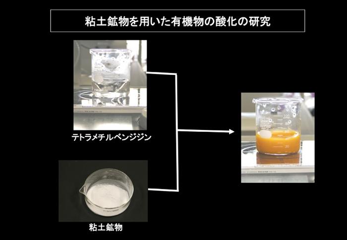 粘土鉱物を用いた有機物の酸化の研究